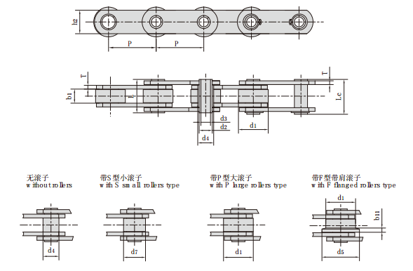 Stainless Steel Hollow Pin Conveyor Chains(MC Series)
