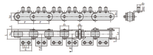 Conveyor chains for cold drink production