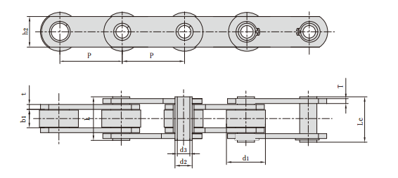 Non-standard Hollow Pin Conveyor Chains